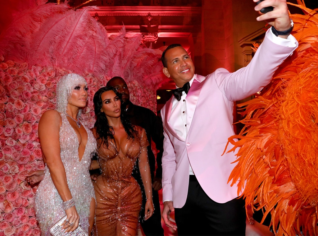 Snapping a Selfie -  When Alex Rodriguez ,  Jennifer Lopez ,  Kanye West and Kim Kardashian  are in a room together, a selfie is in order.