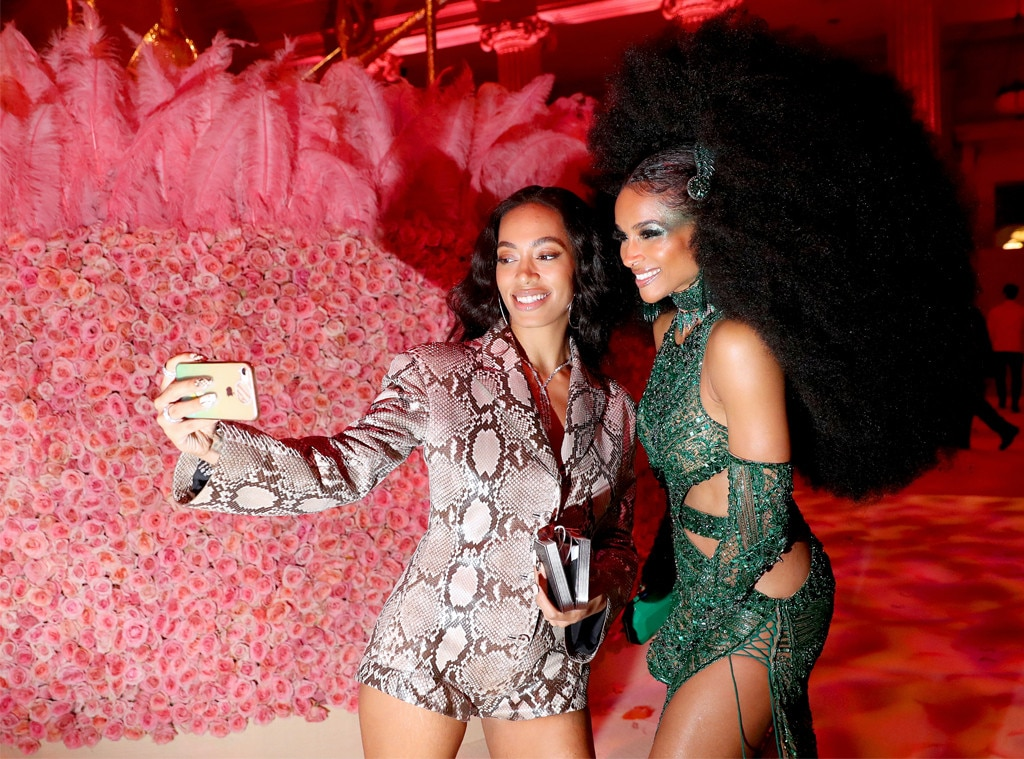 Selfie Time With Solange and Ciara -  When sporting such incredible looks at a one-of-a-kind event, one must document the moment.