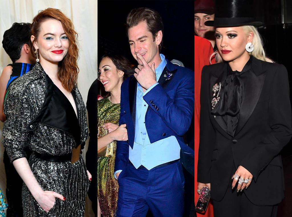 Andrew Garfield, Emma Stone, Rita Ora, Celeb exes reunite at the Met Gala, 2019 Met Gala