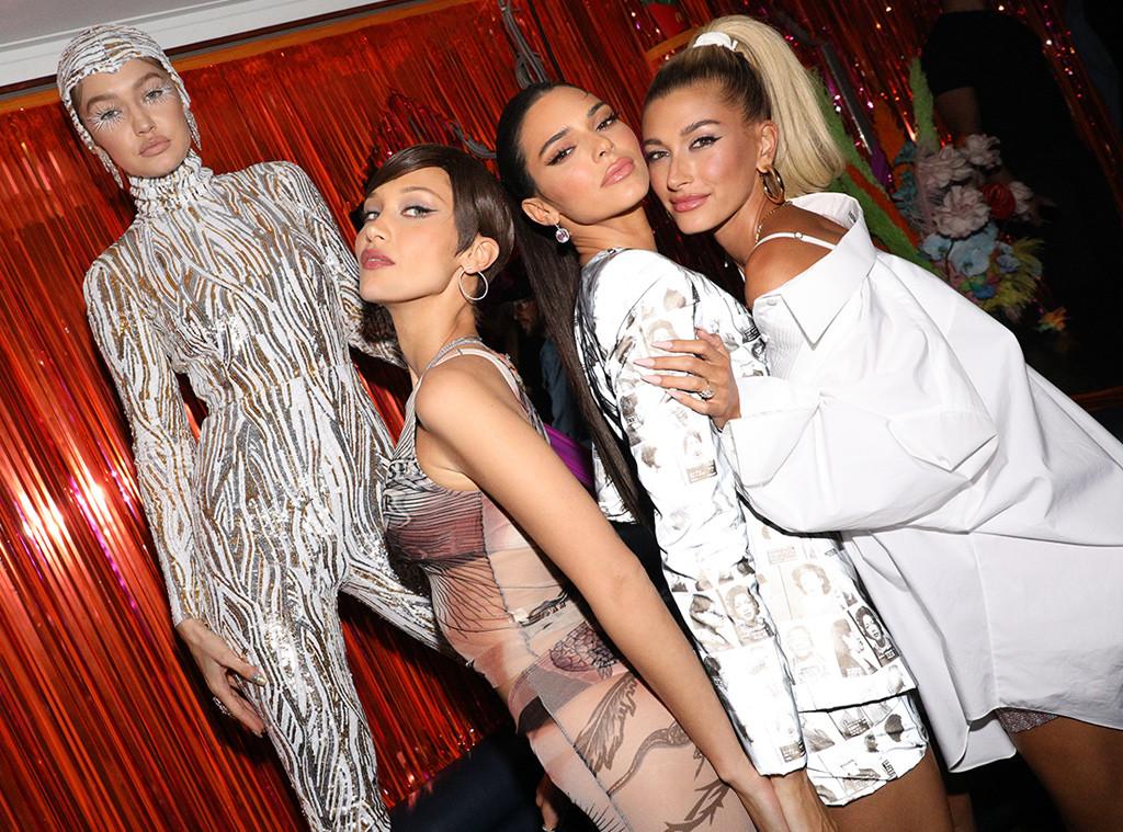 Topless Irina Shayk joins Gigi and Bella Hadid for Yeezy