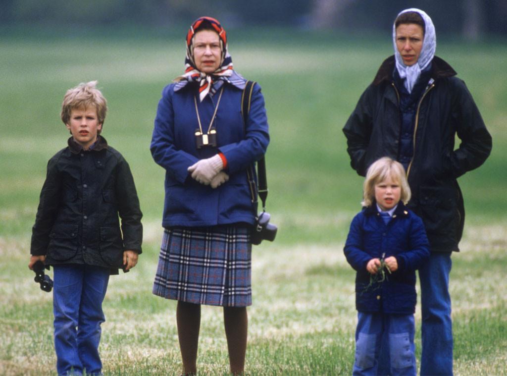 Princess Anne, Queen Elizabeth II, Peter, Zara