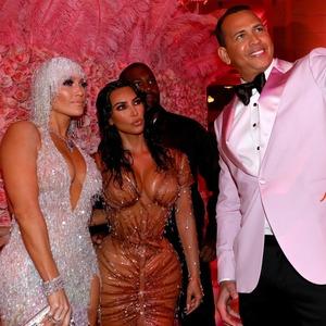 Jennifer Lopez, Alex Rodriguez, Kim Kardashian, Kanye West, 2019 MET Gala, Candids