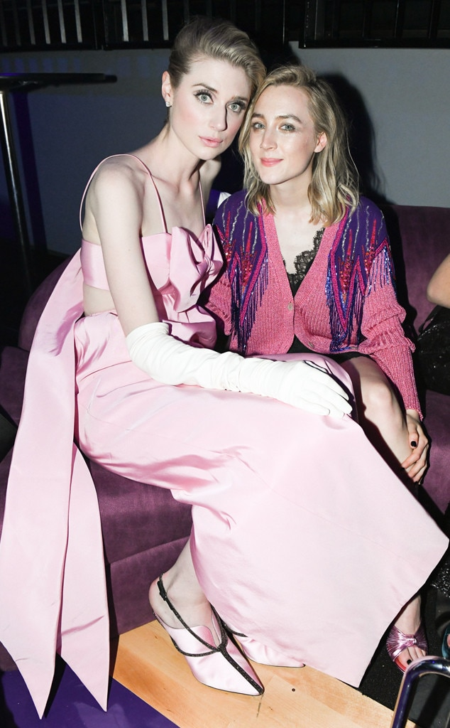 Dynamic Duo - Elizabeth Debicki  and  Saoirse Ronan  enjoyed a chat at the Met Gala after-party.