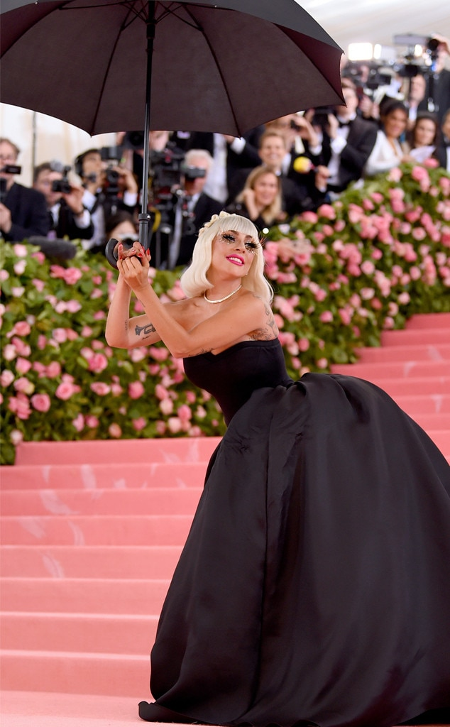 Singer in the Rain -  The one and only Lady Gaga captivated the pink carpet with her campy arrival performance and multiple costume changes.