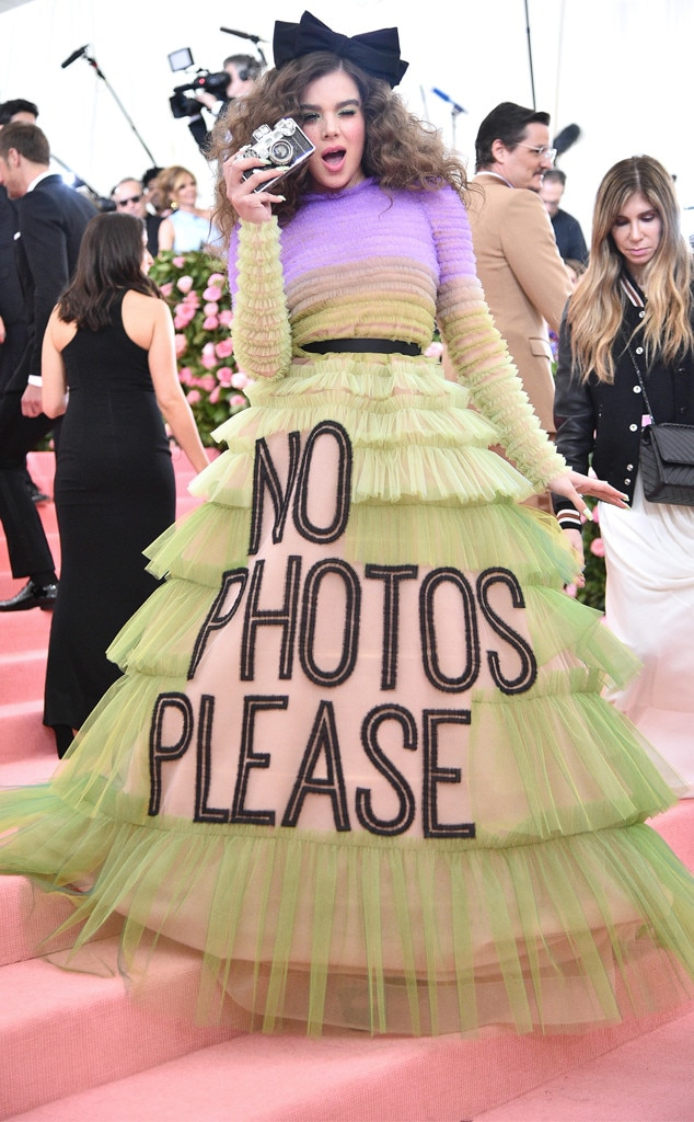 Camera Shy -  While her dress clearly said otherwise,  Hailee Steinfeld was playfully ready for the cameras.