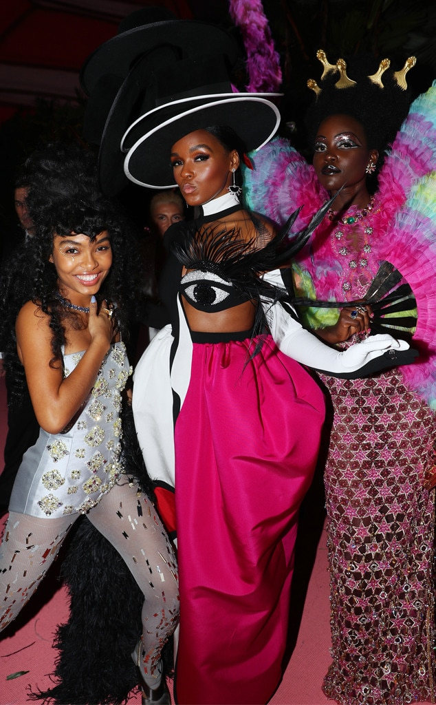 Strike a Pose - Yara Shahidi , Lupita Nyong'o  and Janelle Monáe delivered all of the camp, down to their posing.
