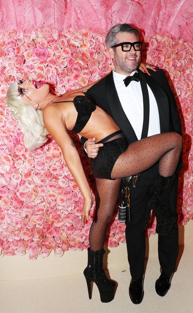 Taking a Dip - Lady Gaga  seriously stroke a pose when designer Brandon Maxwell  dipped her.