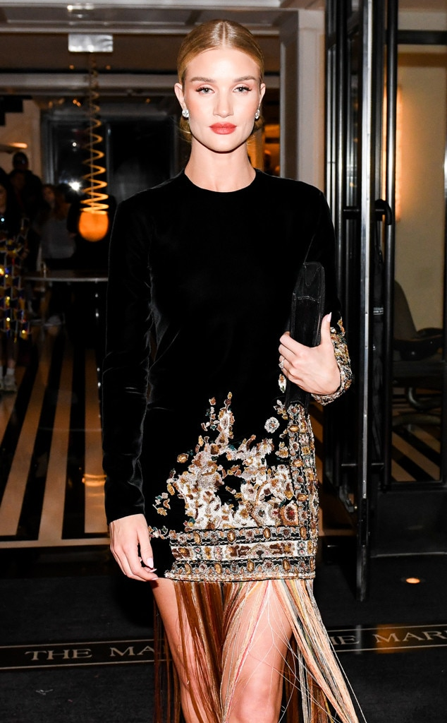 Model Moves - Rosie Huntington-Whiteley  turned heads at Gucci's after-party.