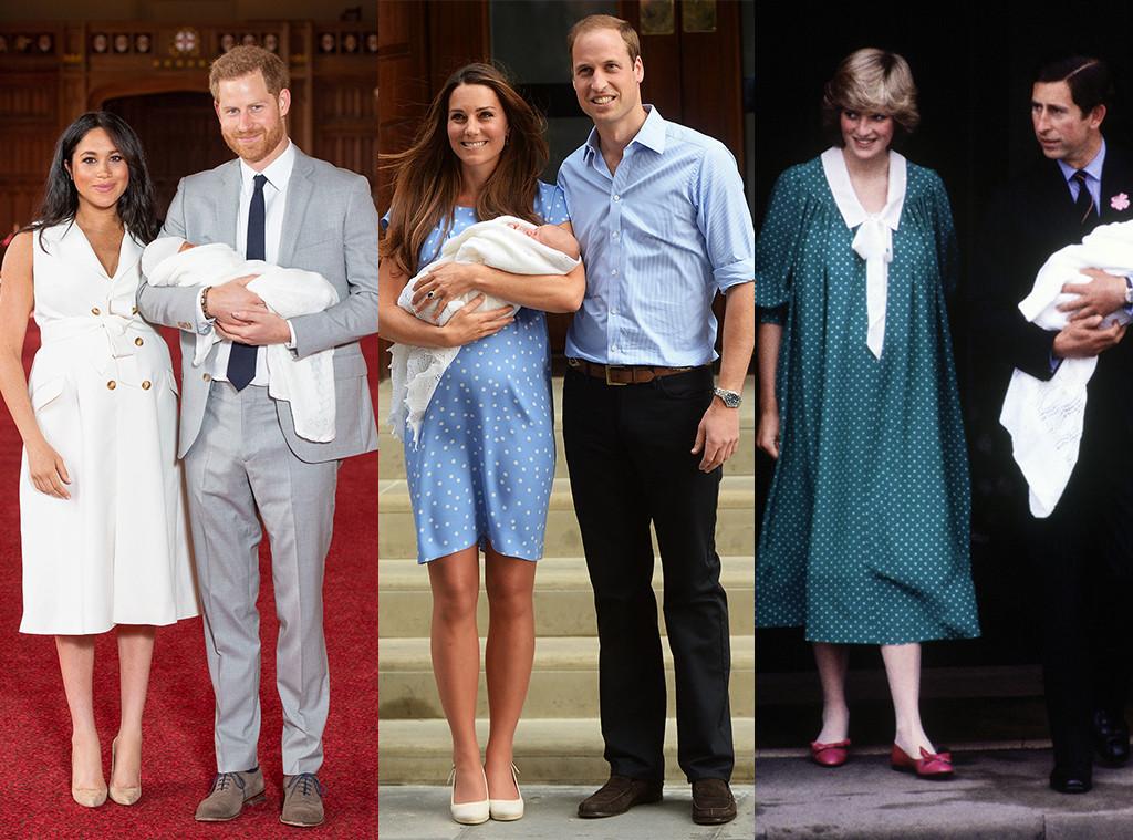 Meghan Markle, Kate Middleton, Princess Diana, Baby Debut, Fashion