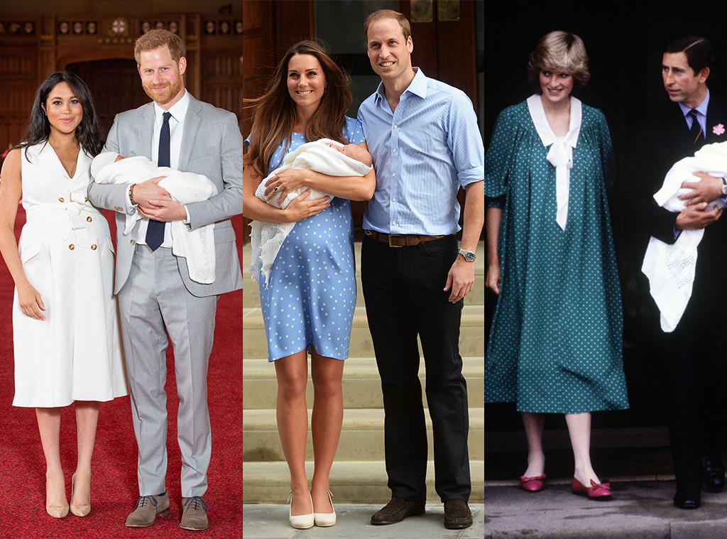 138c81eefed3d Comparing Meghan Markle, Kate Middleton and Princess Diana's Baby ...