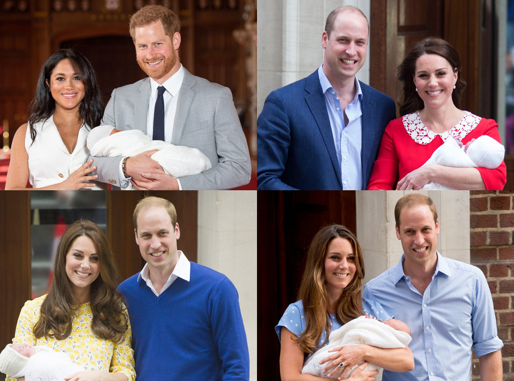 Royal Baby Debuts, Prince William, Kate Middleton, Prince Harry, Meghan Markle