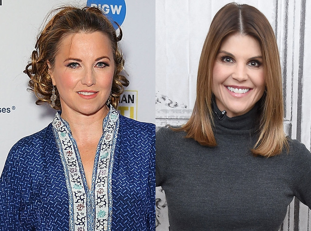 "Lucy Lawless as Lori Loughlin -  Lawless  tweeted  in response to the news, ""I WANT TO PLAY BOTH OF THEM!!!!"""