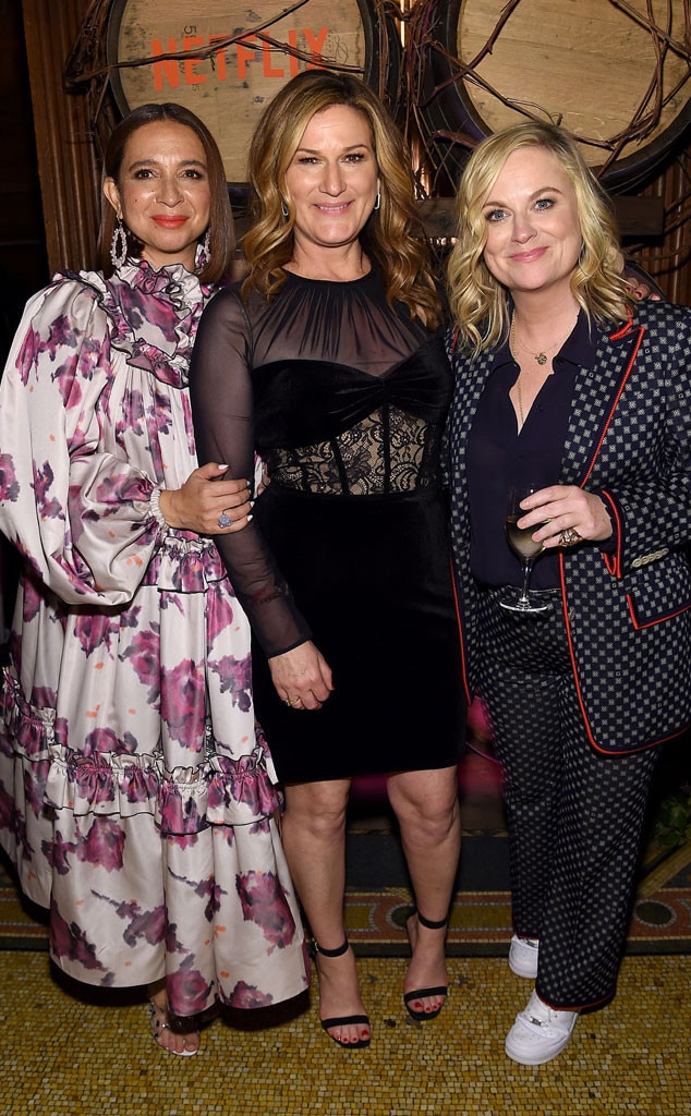 Maya Rudolph, Ana Gasteyer & Amy Poehler -  Ladies of comedy! The  Saturday Night Live  alums attend the  Wine Country  premiere after party in New York City.