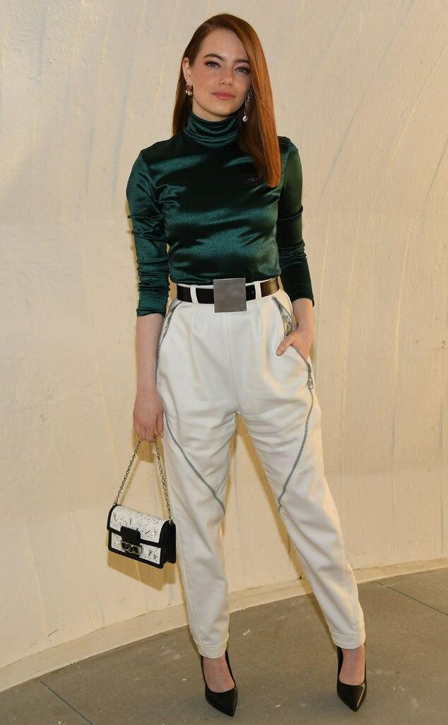 Emma Stone, Louis Vuitton Cruise 2020 Fashion Show
