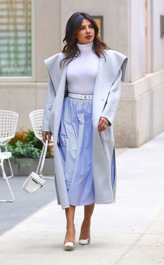 Priyanka Chopra -  Pretty in Purple! The actress was looking spring fresh as she made her wayfor the Target launch event in Battery Park City.
