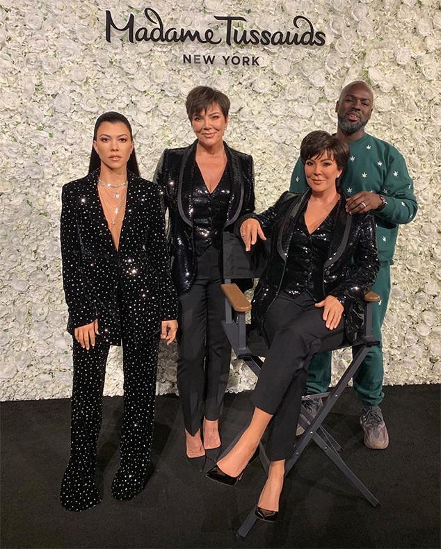 Kourtney Kardashian, Kris Jenner, Corey Gamble, Madame Tussauds, Wax Figure