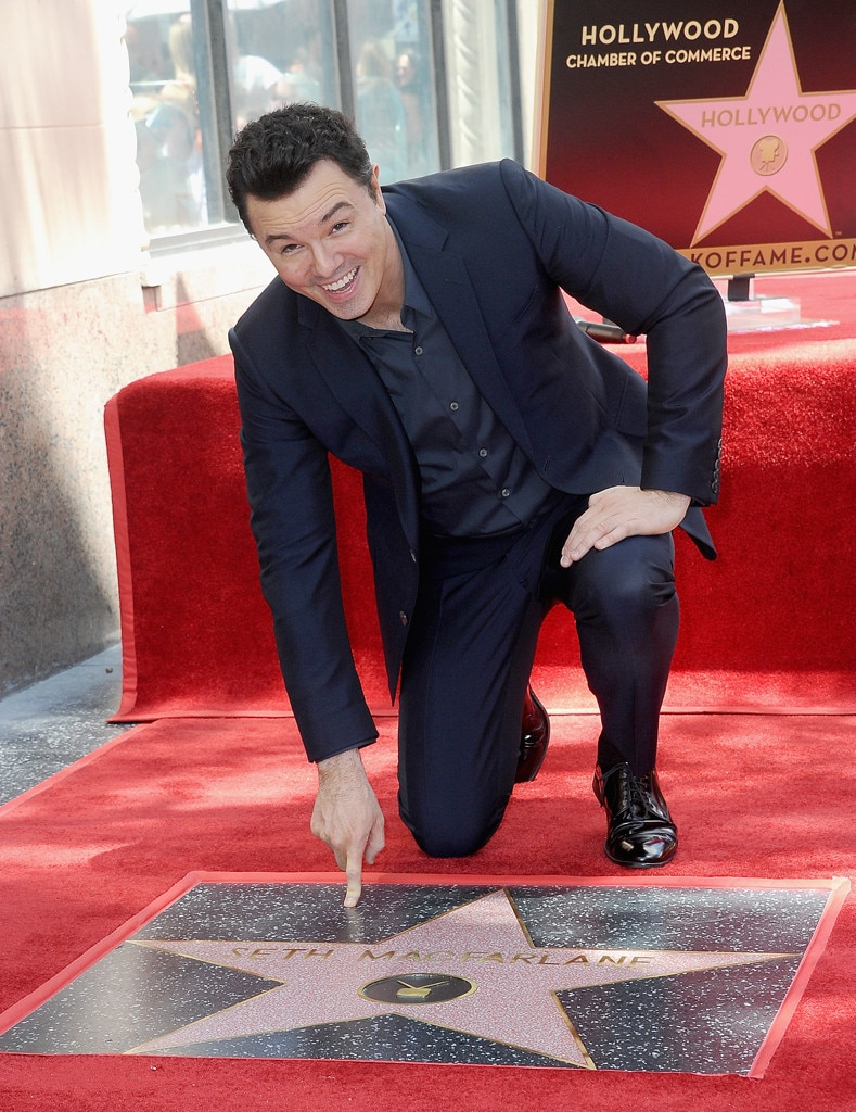Seth MacFarlane -  The 45-year-old animator, actor and filmmaker, who has won several awards for his work on  Family Guy , including four Primetime Emmy Awards, received his star April 2019.
