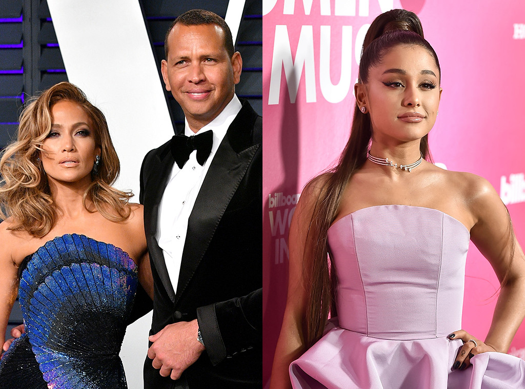 Jennifer Lopez, Alex Rodriguez, Ariana Grande