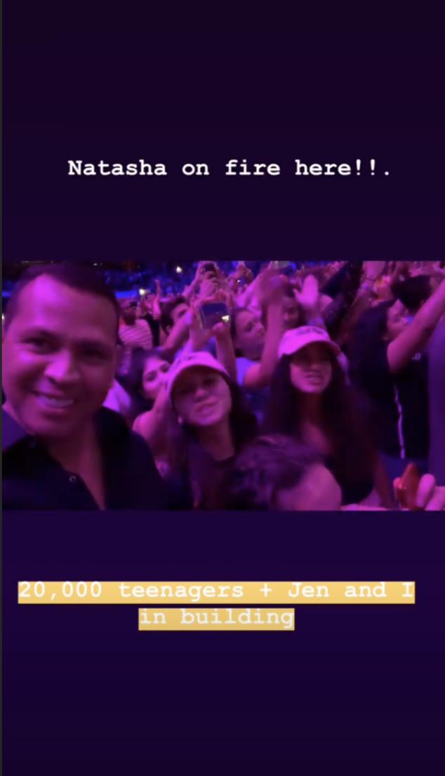 Alex Rodriguez, Ariana Grande concert