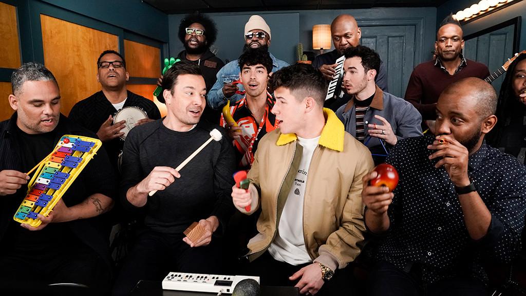 Jonas Brothers, Jimmy Fallon, The Roots