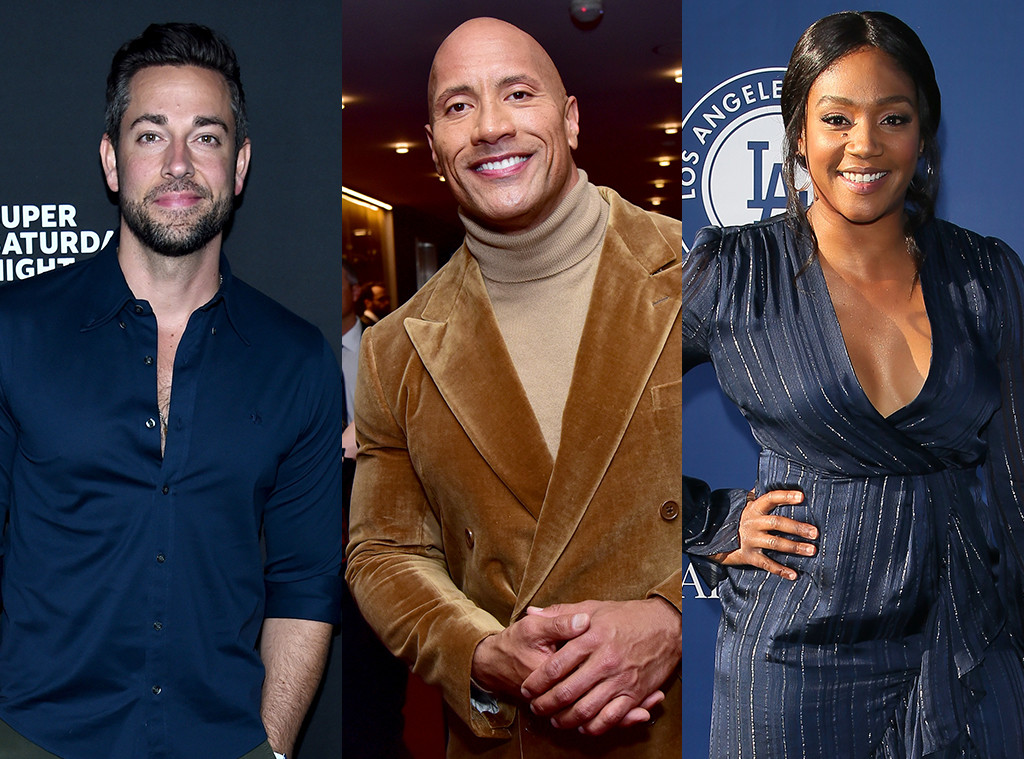 Zachary Levi, Dwayne Johnson, Tiffany Haddish