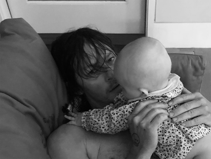 Norman Reedus, Daughter, Diane Kruger, Father's Day 2019