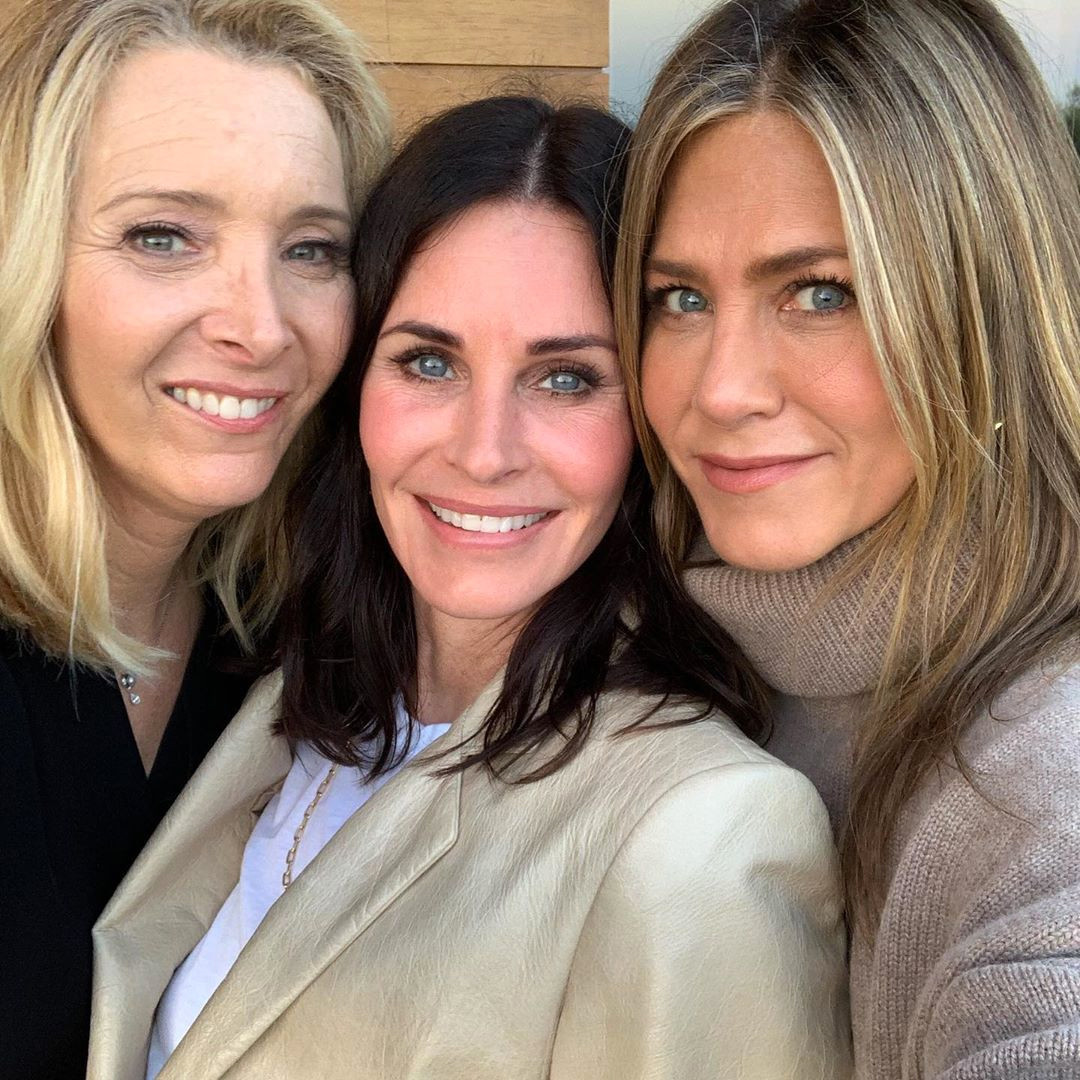 Courteney Cox, Lisa Kudrow, Jennifer Aniston, Friends, Reunion, Birthday