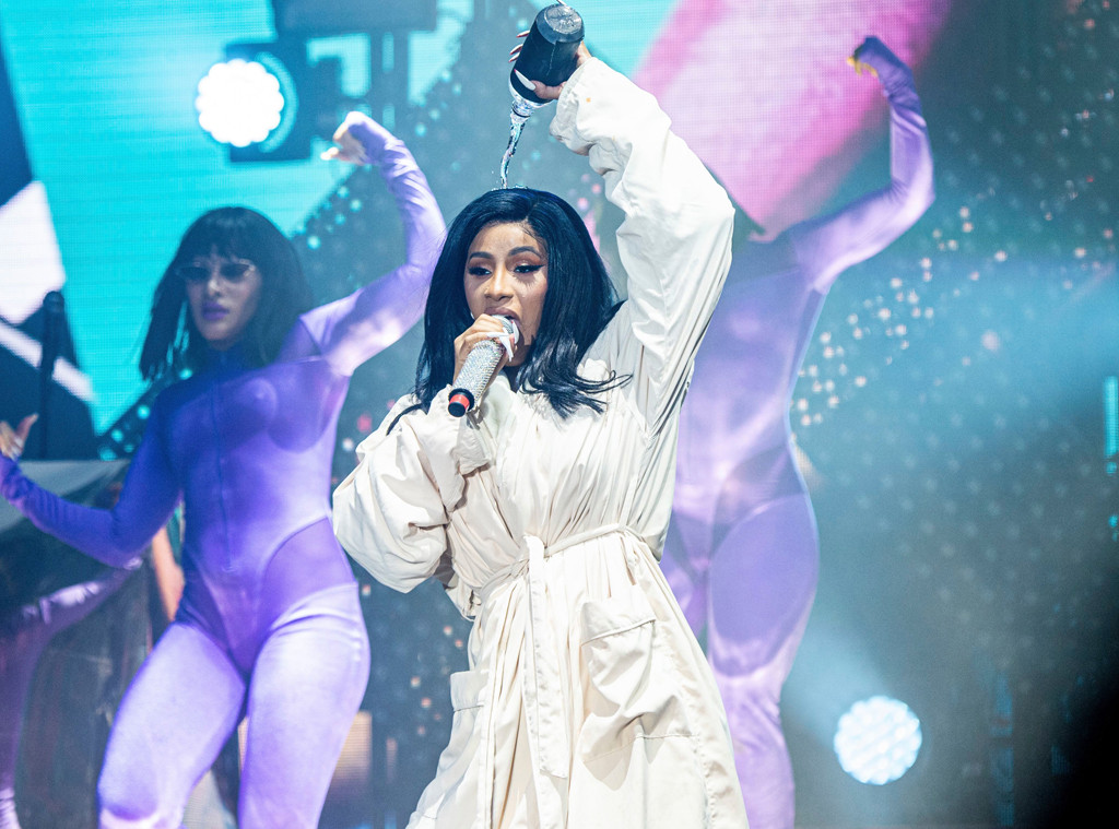 Image result for cardi b performs in bathrobe