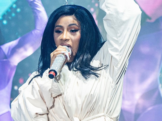 Cardi B Performs in a Bathrobe After Ripping Her Jumpsuit at Bonnaroo