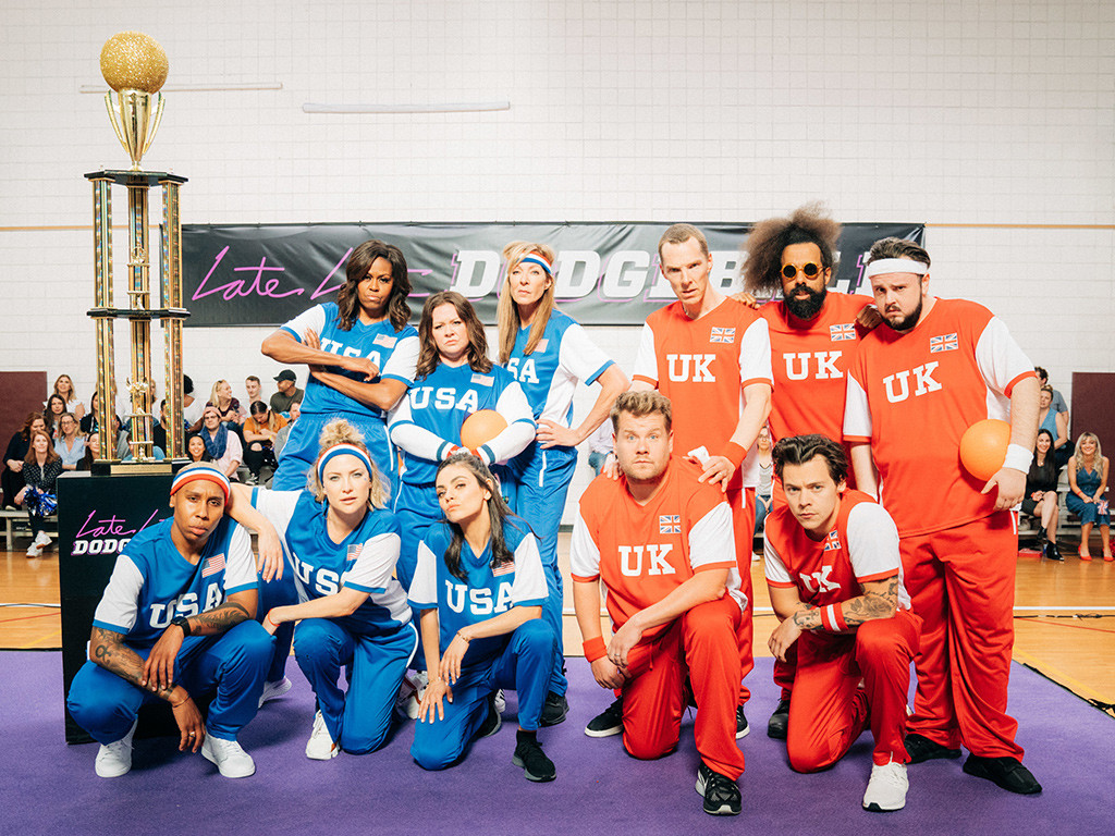 James Corden, Michelle Obama, Dodgeball