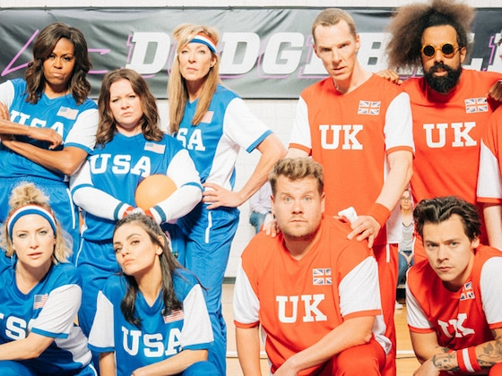 James Corden and Michelle Obama Face Off in Epic Celebrity Dodgeball Game