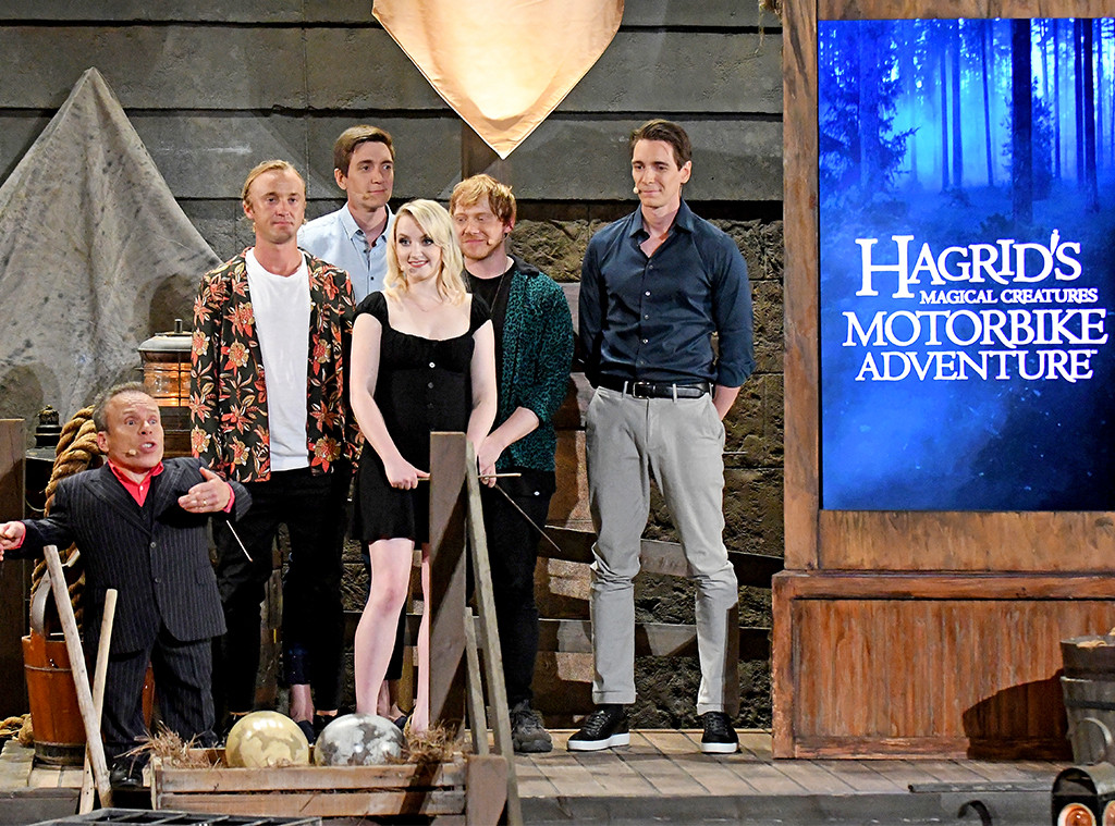 Warwick Davis, Tom Felton, James Phelps, Evanna Lynch, Rupert Grint, Oliver Phelps