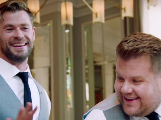 Chris Hemsworth and James Corden's Waiter War Will Make You Laugh Out Loud