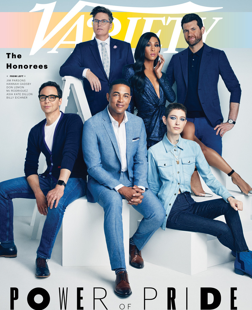 Jim Parsons, Hannah Gadsby, Billy Eichner, Don Lemon, Asia Kate Dillon, MJ Rodriguez, Variety