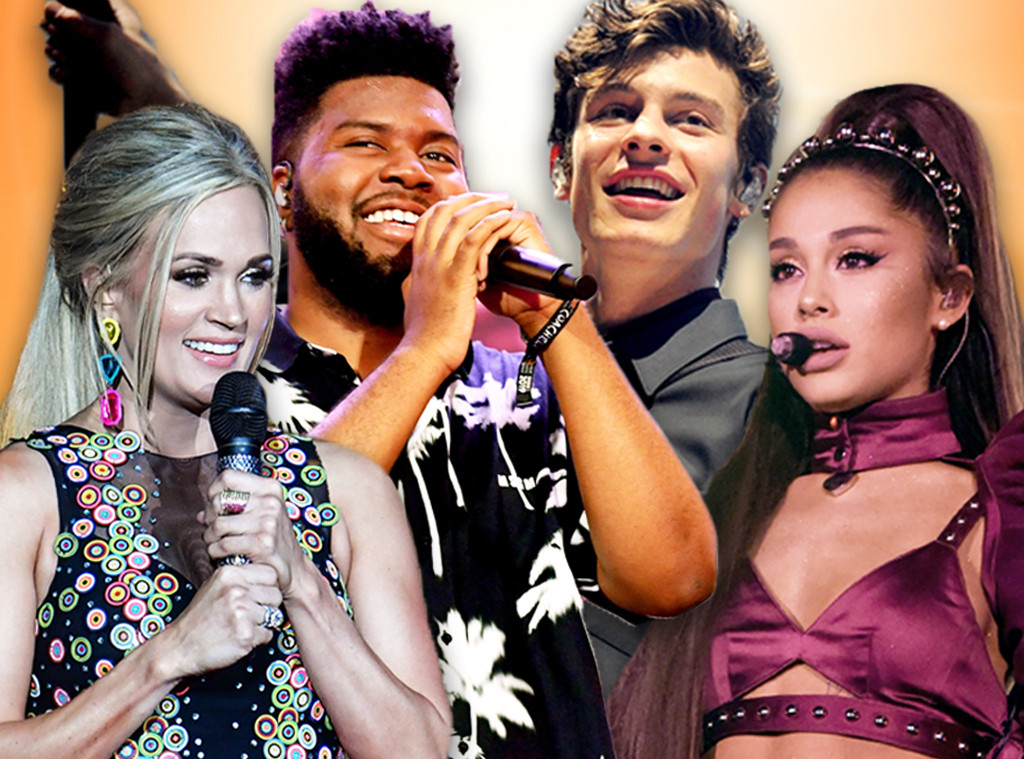 Summer Concert Poll - Ariana Grande, Khalid, Carrie Underwood, Shawn Mendes