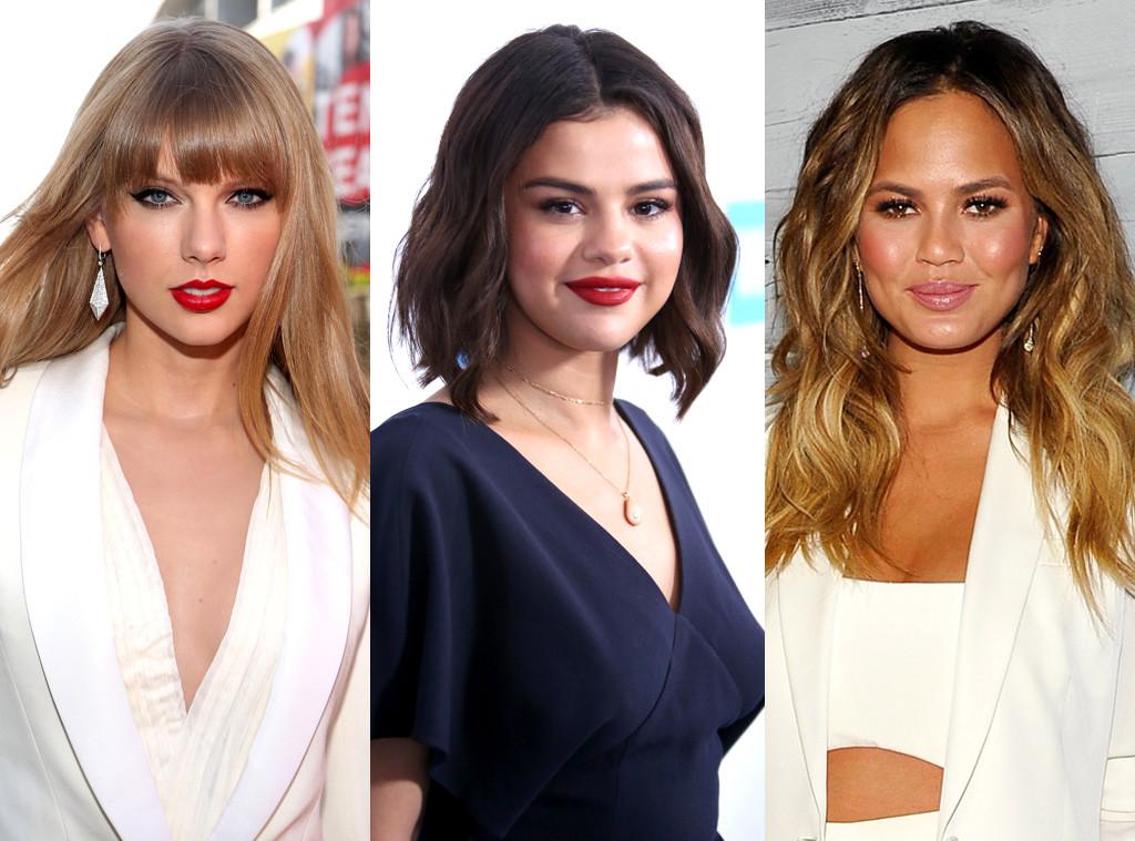 Selena Gomez, Chrissy Teigen, Taylor Swift