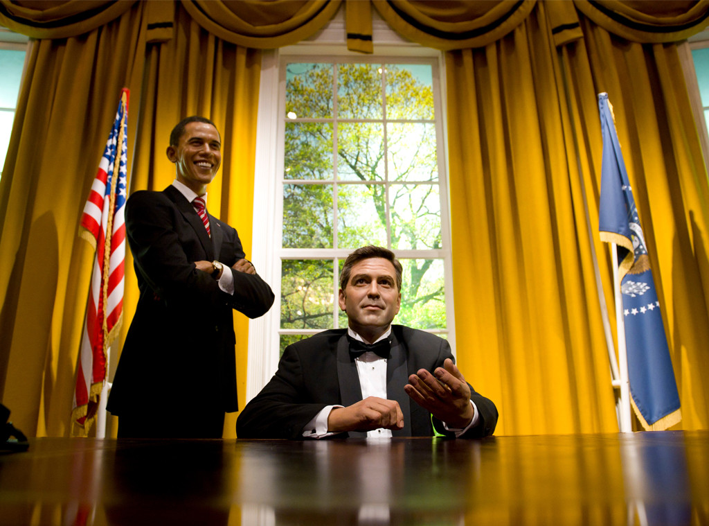 George Clooney, Barack Obama, Wax Figure