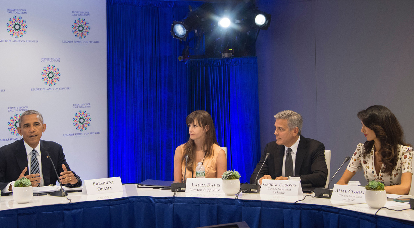 George Clooney, Barack Obama, Amal Clooney