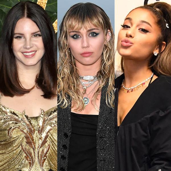 Miley Cyrus, Ariana Grande, Lana Del Rey