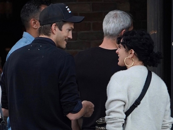 Ashton Kutcher Reunites With Former Stepdaughter Rumer Willis at L.A. Bar