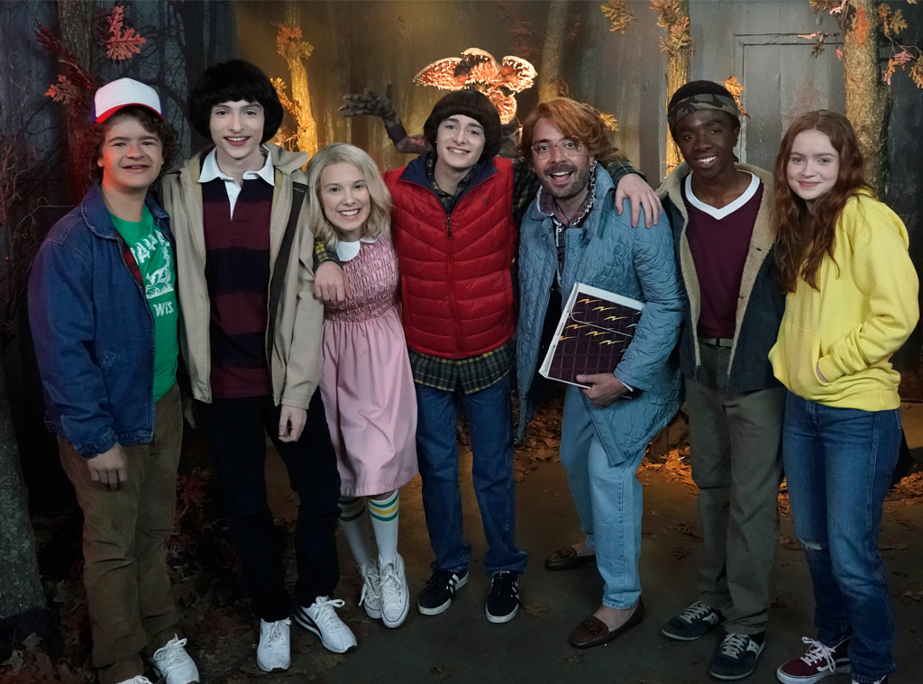 Gaten Matarazzo, Finn Wolfhard, Millie Bobby Brown, Noah Schnapp, Caleb McLaughlin and Sadie Sink, Jimmy Fallon, Stranger Things