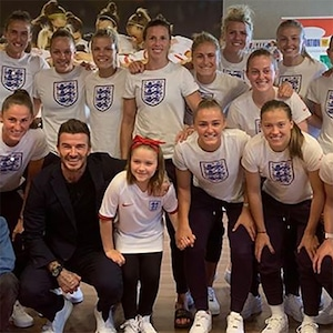 David Beckham, Harper Beckham, World's World Cup 2019, Team England, Lionesses