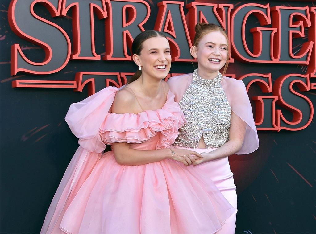Millie Bobby Brown, Sadie Sink, Stranger Things Season 3 premiere
