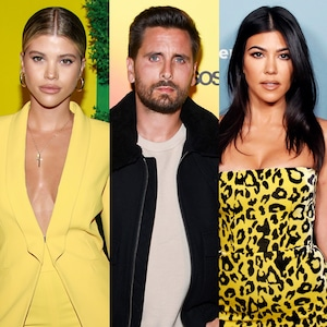 Sofia Richie, Scott Disick, Kourtney Kardashian