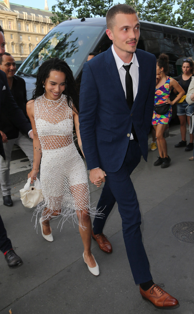 Zoe Kravitz S Bll Co Stars Kick Off Wedding Celebrations E