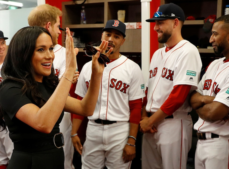 Meghan Markle Makes Surprise Appearance At Baseball Game