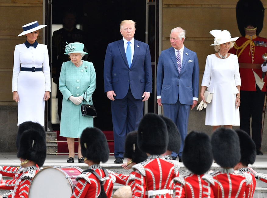 Melania Trump, Queen Elizabeth, Donald Trump, Prince Charles, Camilla Duchess of Cornwall