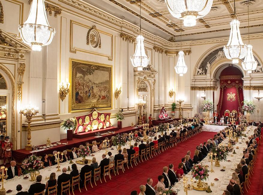 Donald Trump, Queen Elizabeth II, State Banquet at Buckingham Palace