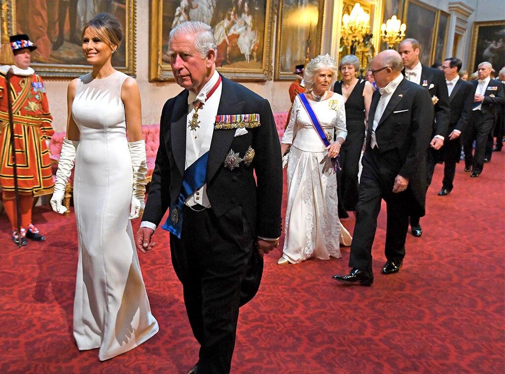 Melania Trump, Prince Charles, State Banquet at Buckingham Palace
