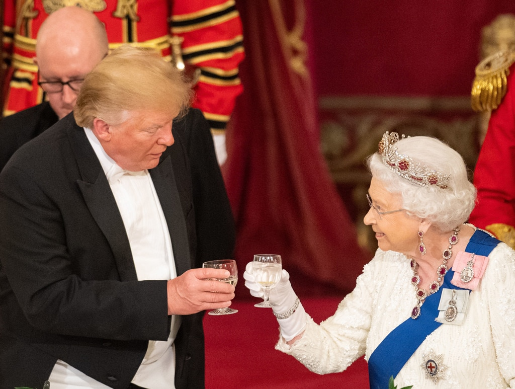 Donald Trump, Queen Elizabeth II, State Banquet at Buckingham Palace